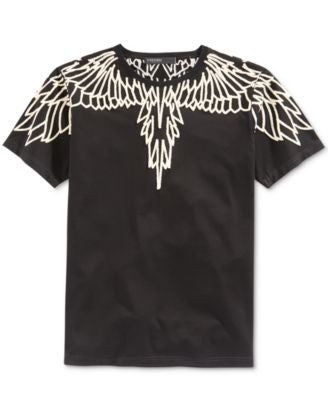 Hudson NYC Men's Embroidered Wings T-Shirt