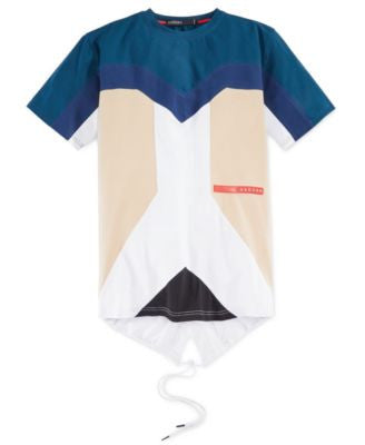 Hudson NYC Men's Colorblock Fishtail Graphic-Print T-Shirt