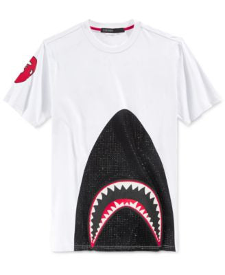 Hudson NYC Men's Jaws Embellished Graphic-Print T-Shirt