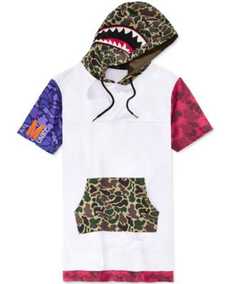 Hudson NYC Men's Graphic-Print Terry Short-Sleeve Hoodie