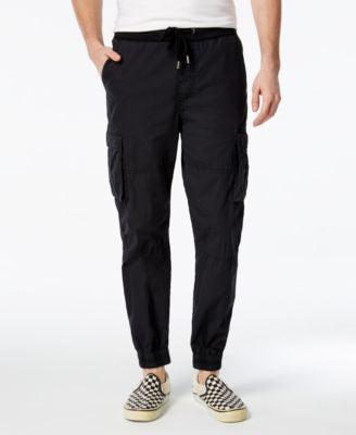 GUESS Men's Poplin Jogger Pants