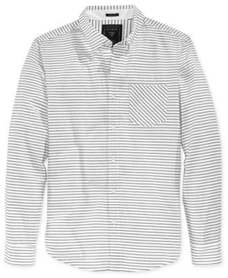 GUESS Men's Long-Sleeve Stripe Shirt