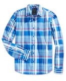 GUESS Men's Long-Sleeve Plaid Shirt
