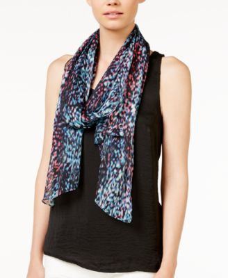 Calvin Klein Abstract Animal Crinkle Scarf