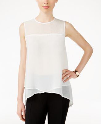 Anne Klein Sleeveless High-Low Top