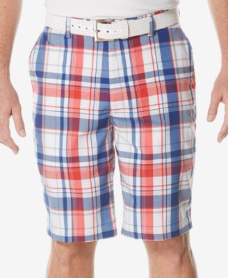 PGA TOUR Men's Performance Plaid Golf Shorts