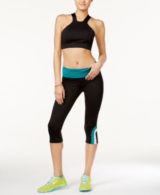 Energie Active Juniors' Delany Mesh-Back Bra & Hudson Ruched Cropped Leggings
