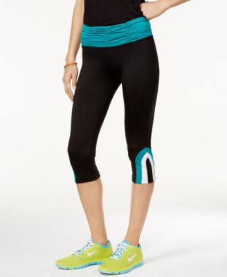 Energie Active Juniors' Hudson Ruched-Waist Cropped Leggings