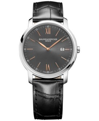 Baume & Mercier Men's Swiss Classima Black Leather Strap Watch 42mm M0A10266