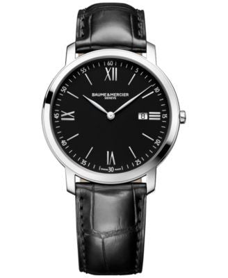 Baume & Mercier Men's Swiss Classima Black Leather Strap Watch 42mm M0A10098