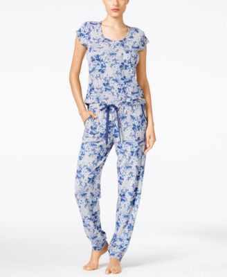 Alfani Floral-Print Top and Pajama Bottoms Separates, Only at Vogily