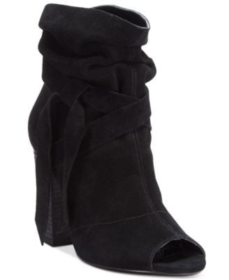 Nine West Ronia Peep-Toe Block-Heel Booties