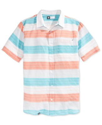 LRG Men's Big & Tall Trinidad Stripe Short-Sleeve Shirt