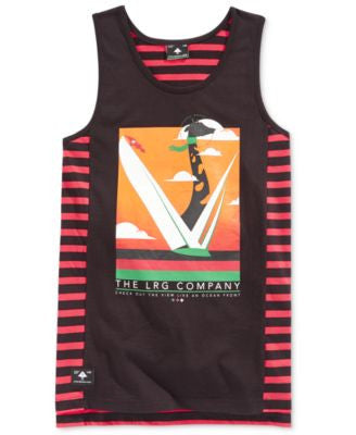 LRG Men's Graphic-Print Stripe Tank