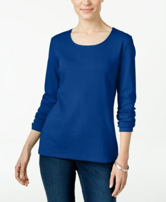 Karen Scott Petite Scoop-Neck Top, Only at Vogily