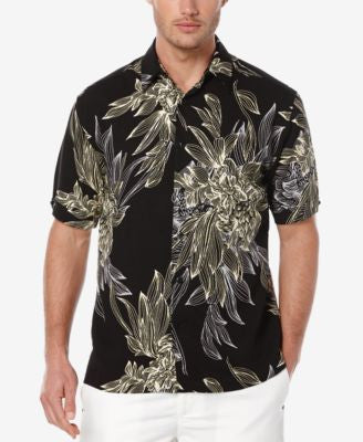 Cubavera Men's Tropical Short-Sleeve Shirt