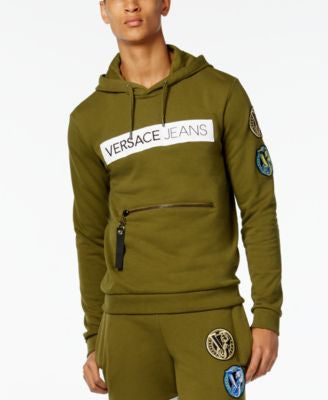 Versace Jeans Men's Felpa Hooded Sweatshirt