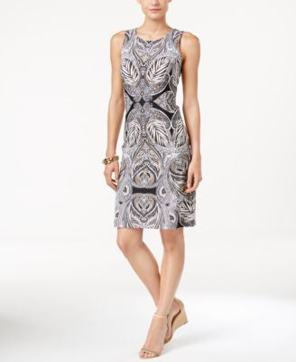 Charter Club Petite Paisley-Print Shift Dress, Only at Vogily