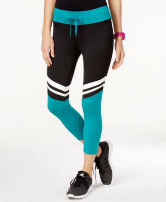 Energie Active Juniors' Paz Striped Colorblocked Capri Leggings