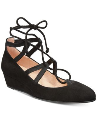 French Sole FS/NY Twosome Lace-Up Wedges