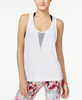 Material Girl Active Juniors' Mesh Racerback Tank Top, Only at Vogily