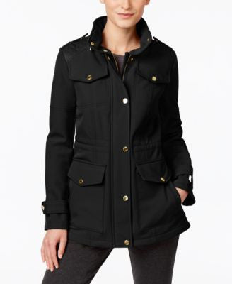 MICHAEL Michael Kors Petite Quilted-Trim Water-Resistant Jacket