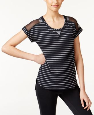 Ideology Striped Mesh T-Shirt, Only at Vogily