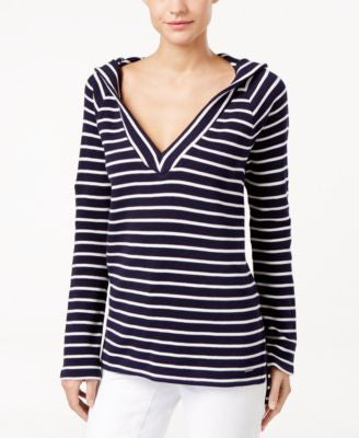 Calvin Klein Jeans Striped Pullover Hoodie