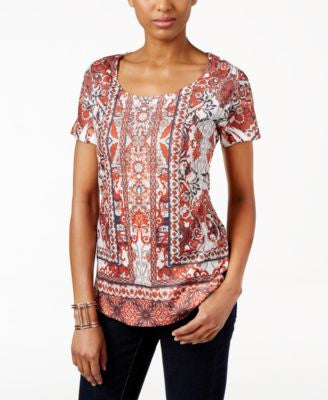 Style & Co. Short-Sleeve Printed Top, Only at Vogily