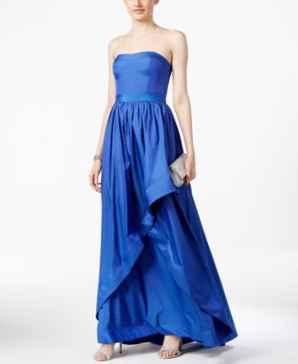 Adrianna Papell Strapless Taffeta Gown