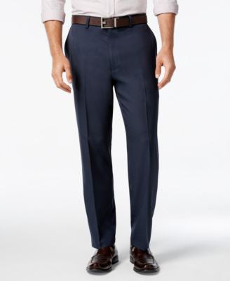 Alfani Men's Textured Navy Flat-Front Pants