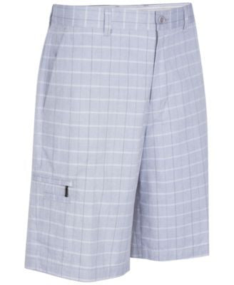 Greg Norman for Tasso Elba Men's Big & Tall 5 Iron Plaid Performance Golf Shorts