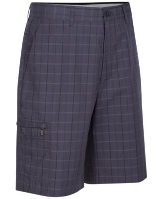 Greg Norman for Tasso Elba Men's 5 Iron Plaid Performance Golf Shorts