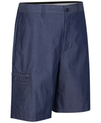 Greg Norman for Tasso Elba Men's Big & Tall 5-Iron Cross-Dyed Shorts