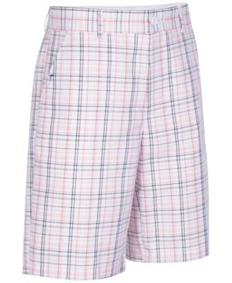 Greg Norman for Tasso Elba Men's Plaid Golf Shorts