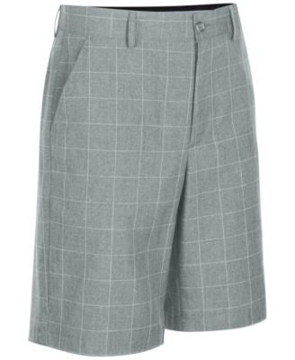 Greg Norman for Tasso Elba Men's Windowpane Golf Shorts