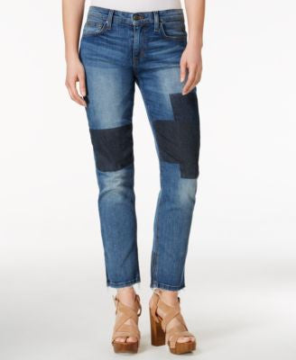 Joe's Jeans Ex Love Patched Jenni Wash Straight-Leg Jeans