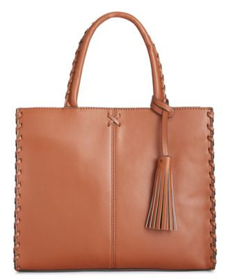 Giani Bernini Whipstitch-Trim Satchel, Only at Vogily