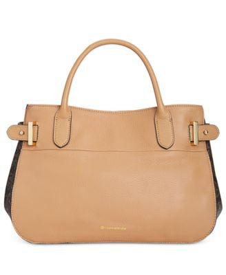Giani Bernini Signature Pebble Leather Satchel, Only at Vogily