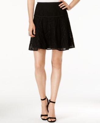 Armani Exhange Open-Stitched A-Line Mini Skirt