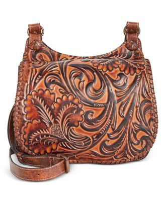 Patricia Nash Borghetto Braided Saddle Bag
