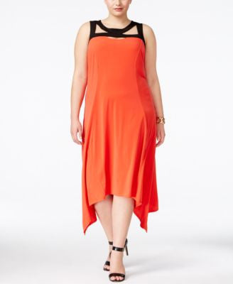 NY Collection Plus Size Cutout-Neck Dress
