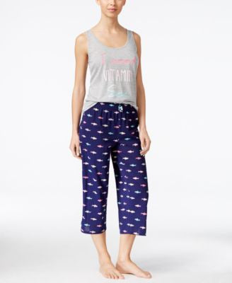 Jenni by Jennifer Moore Printed Tank & Pajama Pants Sleep Separates, Only at Vogily