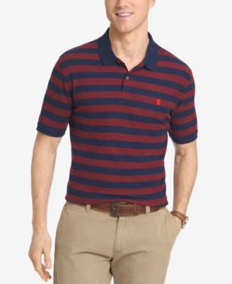 IZOD Men's Piqué Knit Striped Polo