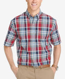 IZOD Men's Plaid Short-Sleeve Shirt