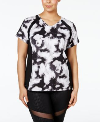 Ideology Plus Size V-Neck Printed T-Shirt, Only at Vogily