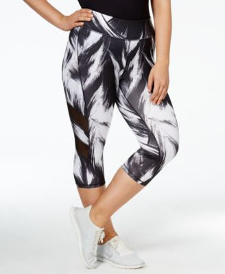 Ideology Plus Size Printed Cropped Leggings, Only at Vogily