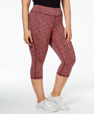 Ideology Plus Size Spaced-Dyed Cropped Leggings, Only at Vogily