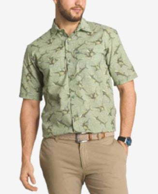 G.H. Bass & Co. Men's Shark-Print Short-Sleeve Shirt