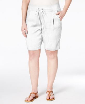 NYDJ Plus Size Candice Drawstring Bermuda Shorts